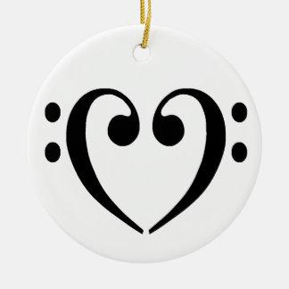 Bass Clef Heart Ornament