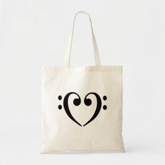 Bass Clef Heart Bag