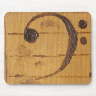 Bass Clef Mouse Pad