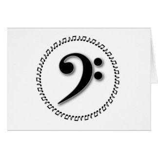 Bass Clef Music Note Design Card