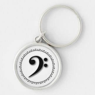 Bass Clef Music Note Design Key Chain