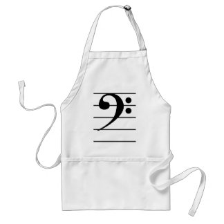Bass Clef on Staff Standard Apron