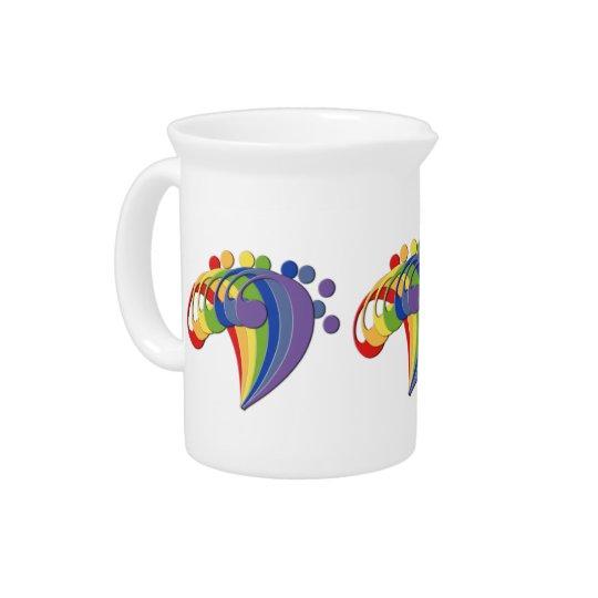 Bass Clef Rainbow Fan Creamer Drink Pitchers