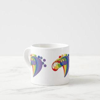 Bass Clef Rainbow Fan Espresso Mug