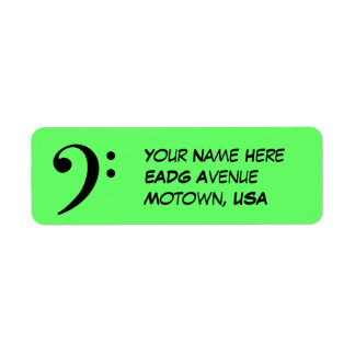 Bass Clef Return Address Label