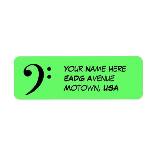 Bass Clef Return Address Label