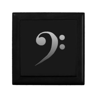 bass clef small square gift box