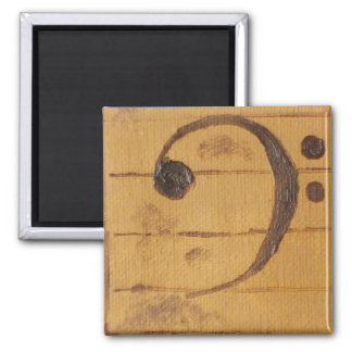 Bass Clef Square Magnet