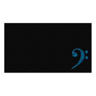 Bass Clef Symbol. Cyan Musician Business Card