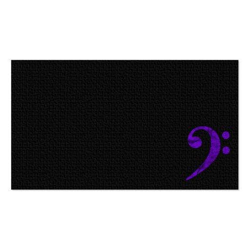 Bass Clef Symbol. Violet Musician Business Card