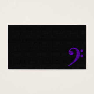Bass Clef Symbol. Violet Musician Business Card