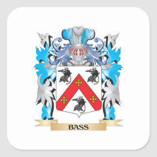 Bass Coat of Arms Stickers
