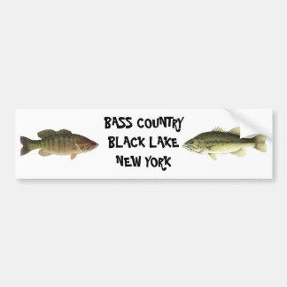 BASS COUNTRY BLACK LAKE NEW YORK BUMPER STICKER
