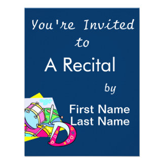 Bass drum and letter D graphic colourful image Invitations