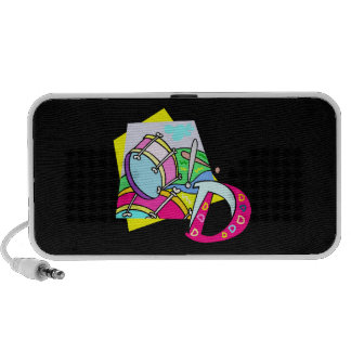 Bass drum and letter D graphic colourful image Mini Speaker