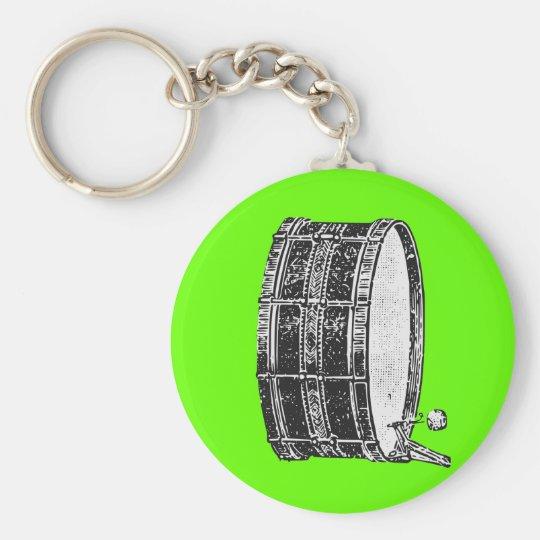 Bass Drum Basic Round Button Key Ring