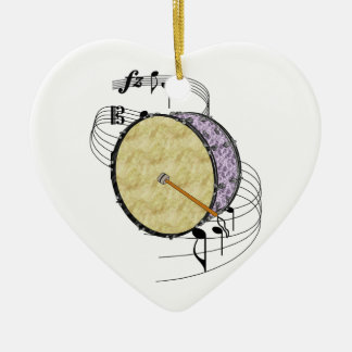Bass Drum Christmas Ornament