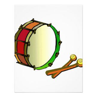 Bass drum with mallets red green announcements