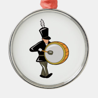 bass drummer marching black abstract.png christmas ornament