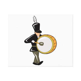 bass drummer marching black abstract.png stretched canvas prints