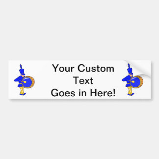bass drummer marching blue abstract.png bumper stickers