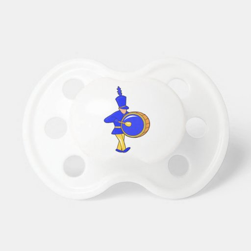 bass drummer marching blue abstract.png baby pacifiers