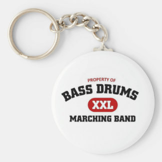Bass Drums Marching Band Basic Round Button Key Ring