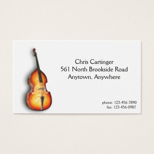 Bass Fiddle Business Card