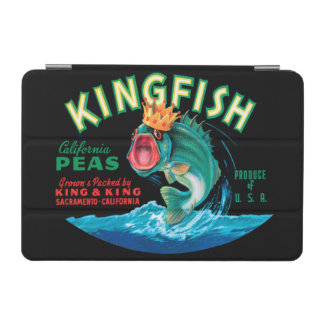 Bass Fish Wearing a Crown on a Black Background iPad Mini Cover