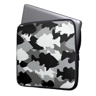 Bass Fishing Black Camo Laptop Sleeve