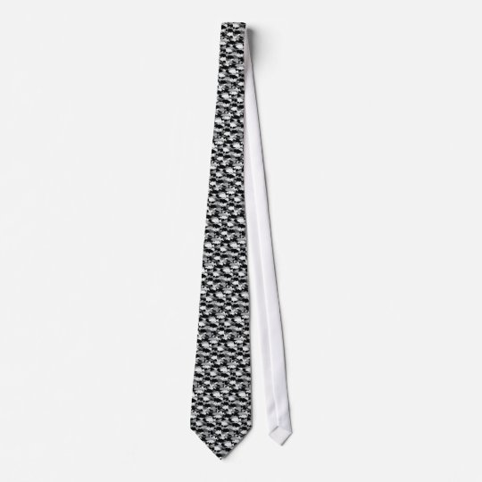 Bass Fishing Black Camo Tie