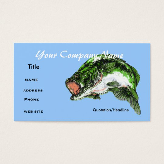 Bass fishing ,Business card