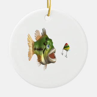 Bass Fishing Christmas Ornament