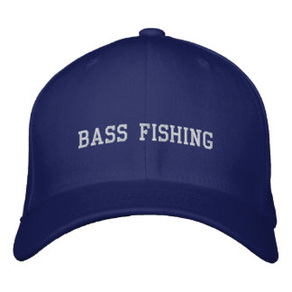 BASS FISHING EMBROIDERED HAT