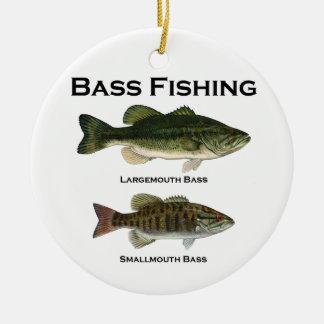 Bass Fishing Logo (largemouth - smallmouth) Christmas Ornament