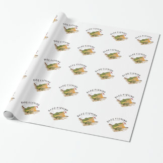 Bass Fishing Wrapping Paper