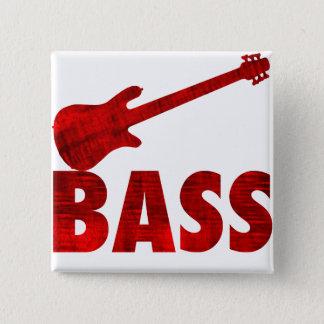 Bass Guitar 15 Cm Square Badge