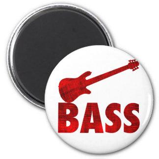 Bass Guitar 6 Cm Round Magnet