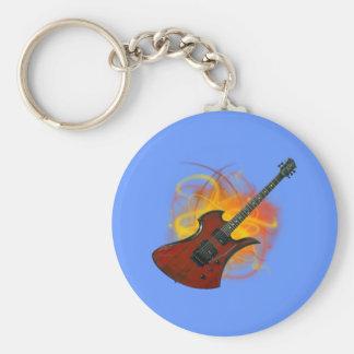 Bass guitar bass guitar basic round button key ring