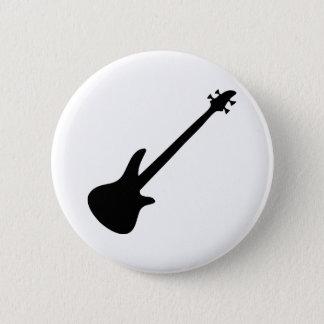bass guitar bassist 6 cm round badge