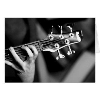 bass guitar card