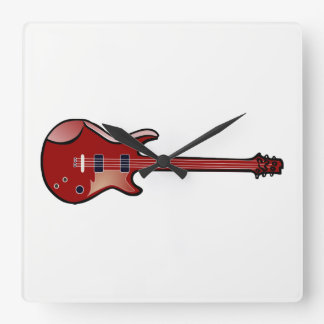 Bass guitar clock