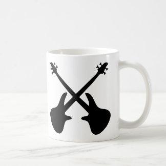 bass guitar crossed coffee mug