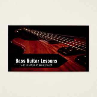 Bass Guitar Lessons and Music Instructors Business Card
