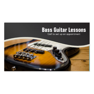 Bass Guitar Lessons and Music Instructors Pack Of Standard Business Cards