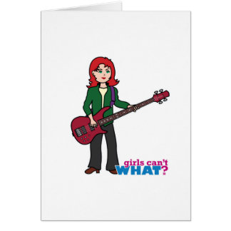 Bass Guitar Light/Red Greeting Card