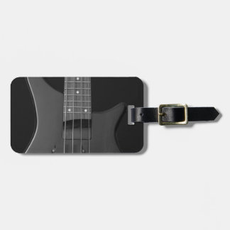 bass guitar luggage tag