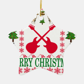 BASS GUITAR MERRY CHRISTMAS . CHRISTMAS ORNAMENT