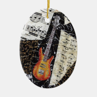 Bass Guitar Music Ornament