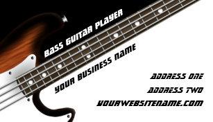 Guitar business cards business card printing zazzle uk bass guitar player business card colourmoves